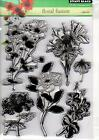 New Penny Black RUBBER STAMP Clear set FREE USA SHIP FLORAL FUSION FLOWERS