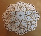 Vintage Hand Crocheted Round Doily Cotton Star  Flower Design Off White