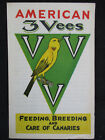 VINTAGE 1930s 3 VEES PET CAGE BIRD FOOD CO BREEDING  CARE OF CANARIES BOOKLET
