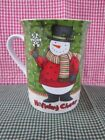 Debbie Mumm Holiday Cheer Porcelain Snowman Cup Mug EUC Great Gift