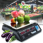 40KG Kitchen Scale Digital LCD Commercial Food Shop Electronic Weight Scales