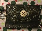 Coco and Carmen cute black and gold purse with gold chain strap NWT
