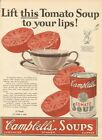 1925 Campbells Tomato Soup Kid Camden NJ Your Lips 1920s Kitchen Decor Ad