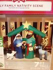 GEMMY NATIVITY MANGER Airblown Inflatable Lighted Christmas Holiday Yard Scene
