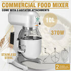 10 QT FOOD DOUGH MIXER BLENDER 0.5HP PRO ELECTRIC STAINLESS STEEL MIXING TOOL