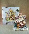 FITZ & and FLOYD Candy Lane SANTAS RAILROAD STATION Musical Gingerbread House