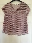 Womens MING Pink Patterned Thin Short Sleeve Top Size S #4924
