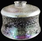 Antique Clear / Aurora Borealis Crackle Glass Pendant Lamp Shade 2 1/4
