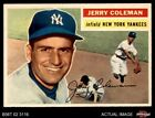 1956 Topps #316 Jerry Coleman Yankees EX MT