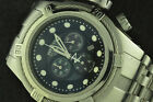 NICE MENS INVICTA RESERVE BOLT ZEUS STAINLESS STEEL CHRONOGRAPH 0820 BLACK DIAL