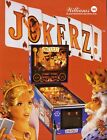 Williams JOKERZ 1988 Original NOS Flipper Game Pinball Machine Promo Sales Flyer