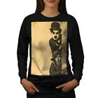 Charlie Chaplin Celebrity Women Sweatshirt NEW  Wellcoda