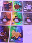 TY BEANIE BABIES 8 EA C0LLECTOR CARDS SPARKLY 1995-97