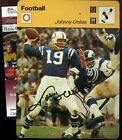 JOHNNY UNITAS SIGNED JSA CERTED SPORTSCASTER CARD AUTOGRAPH