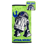 Star Wars Classic R2D2 Green 2 Piece Cotton Bath Towel Set FREE SHIPPING