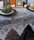 Heritage Lace GHOST and Spider Webs Table Topper Halloween 58x58