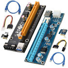 Lot BTC Riser Card PCI E USB 30 Express 1x To 16x Extender Adapter Power Cable