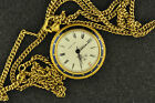 VINTAGE NADINE NECKLACE WATCH WITH DATE MANUAL WIND KEEPING TIME