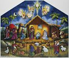 Byers Choice Traditions Nativity Wooden Advent Calendar 18x15 NIB