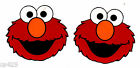 15 Sesame street elmo face set prepasted wall border cut out character