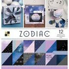 Zodiac 12 W Holographic Foil DCWV Double Sided Paper Stack 12X12 36 Pkg
