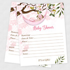 Baby Shower Invitations Girl Cards Invite Decorations With Envelopes Pink 20