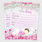 20 Baby Shower Invitations Girl Cards Invites Decorations  Envelopes Rose