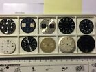 Lot of 10 vintage  BWC, Breitling, Universal Geneve, Croton  chronograph dials