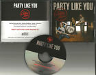 American Bang CADILLAC THREE Party Like you PROMO DJ CD single PRINTED LYRICS