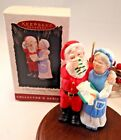 Hallmark Ornament 1994 Mr and Mrs Claus A Handwarming Present  #9 in the Series