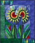 New Paper Foundation Piecing Template and Applique Quilt Pattern Sunflower