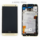NEW For HTC One M7 LCD Display Assembly Touch Screen Digitizer + FRAME GOLD US
