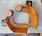 Vintage Wooden Foundry Molds Forms  2 pieces