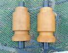 Vintage 2 piece Wooden Foundry Mold Form 10 inches tall