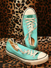 CONVERSE TEAL BLUE PRINT Womens SNEAKERS SIZE 8