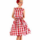 Vintage 50s Women Rockabilly Style Pinup Swing Evening Cocktail Party Dress XXL