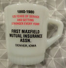 1980 Maxfield Insurance, Denver, Iowa IA, Bremer, Floyd Fireking Advertising Mug