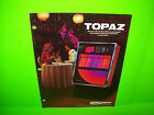 Seeburg TOPAZ 100-77D Original 1976 Jukebox Phonograph Music Promo Sales FLYER