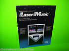 LASER MUSIC By SEEBURG ORIGINAL VINTAGE JUKEBOX PHONOGRAPH PROMO SALES FLYER