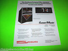 SCD-1A LASER MUSIC By SEEBURG ORIGINAL NOS JUKEBOX PHONOGRAPH PROMO SALES FLYER