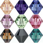 100 50Pcs Mixed Color Faceted Glass Crystal Beads Loose Bicone Spacer Bead 6mm
