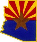 43051 Arizona State Flag USA Political Southwest Cut Out Sew Iron On Patch NEW