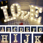 ALPHABET LETTER LIGHTS LED LIGHT UP WHITE LETTERS A Z STANDING HANGING