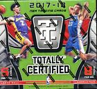 2017 18 PANINI TOTALLY CERTIFIED SEALED HOBBY BASKETBALL BOX