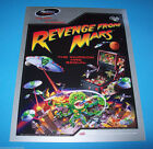 Bally REVENGE FROM MARS Pinball 2000 NOS Original Pinball Machine Promo Flyer #2