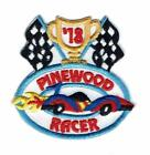 Boy Cub Derby PINEWOOD RACER 2018 car Track Fun Patch Crests Badges SCOUT GUIDE