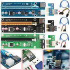 Lot USB 30 PCI E Express 1x To 16x Extender Riser Card Adapter Power BTC Cable