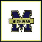 Michigan Wolverines Vintage Embroidered Iron On Patch NOS 3 x 25