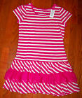 New Girls THE CHILDRENS PLACE Pink  White Stripe Ruffles Dress Size XS 4