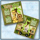 12 x 12 Printed Premade Scrapbook 2 Page Layouts WHAT A ZOO